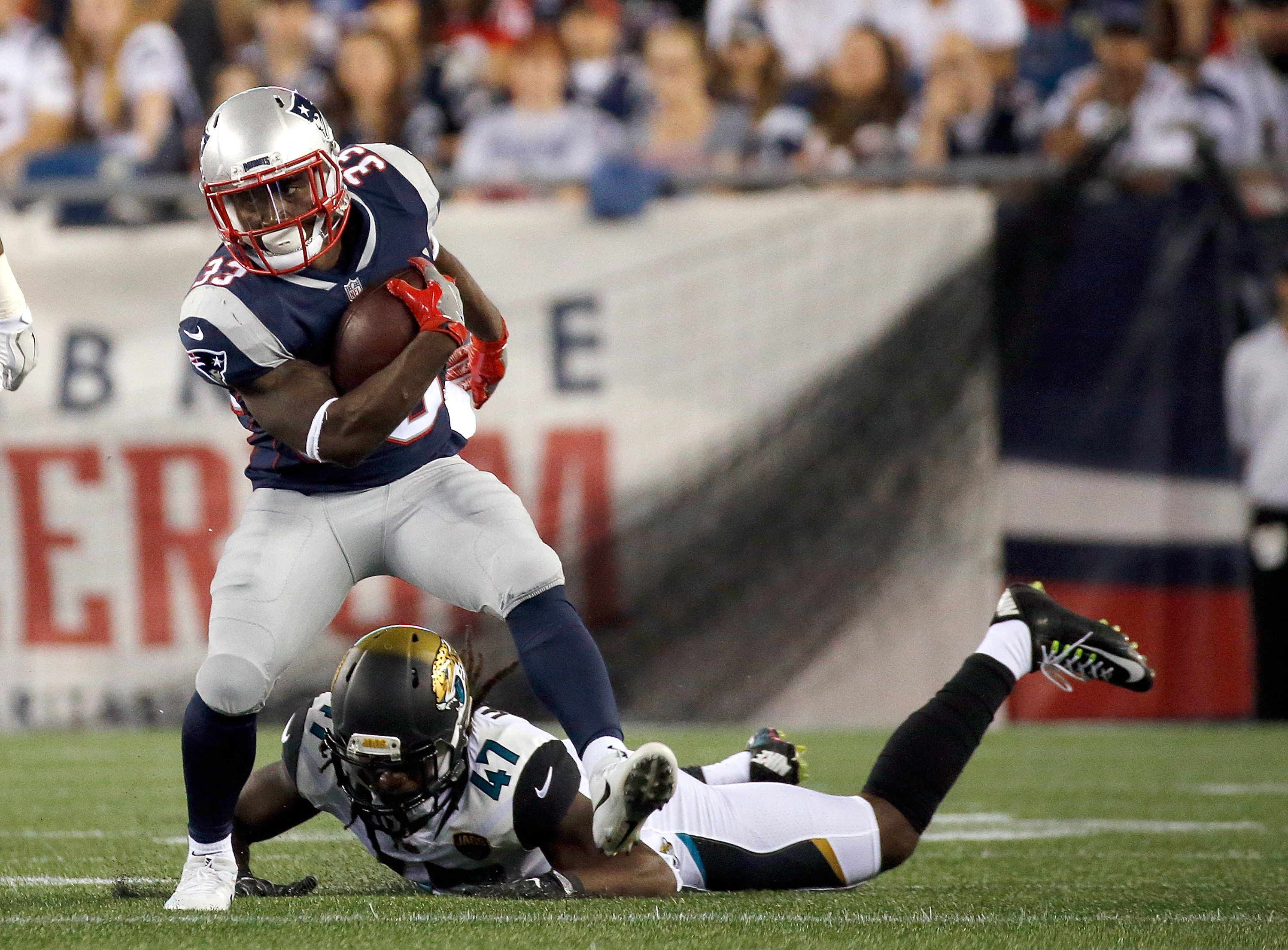 Mike Gillislee says he's '100 percent' after rehabbing hamstring
